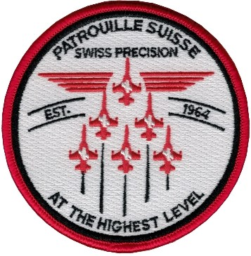 Picture of Patrouille Suisse Abzeichen weiss-rot