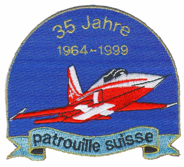 Picture of Anniversary Patch Patrouille Suisse Swiss Air Force Aerbatic Team Patches