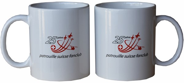 Picture of Patrouille Suisse Fanclub Jubiläumstasse in weiss