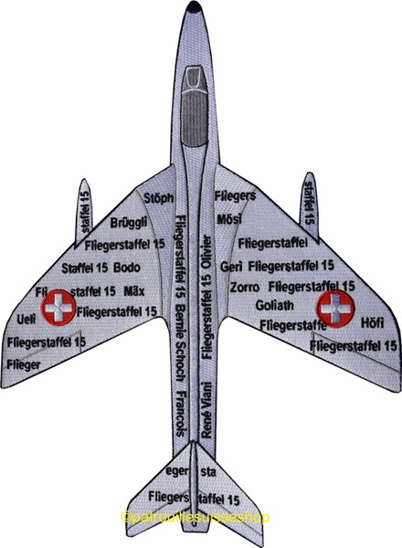 Picture of Hawker Hunter Papyrus Back Patch
