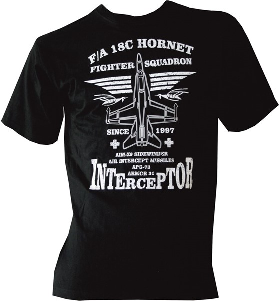Picture of F/A-18 Hornet Interceptor Kinder T-Shirt schwarz