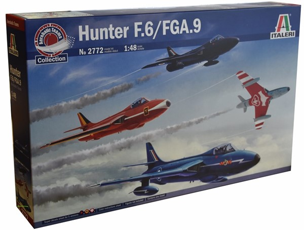 Picture of Hawker Hunter Plastikmodellbausatz Patrouille Suisse Decals 1:48 Italeri