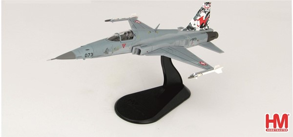 Picture of Tiger F5E diecast metal model Swiss Air Force Squadron 8, limited edition Hobby Master