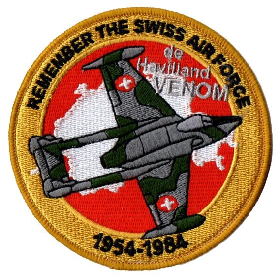 Picture of Swiss Air Force de Havilland Venom Patches