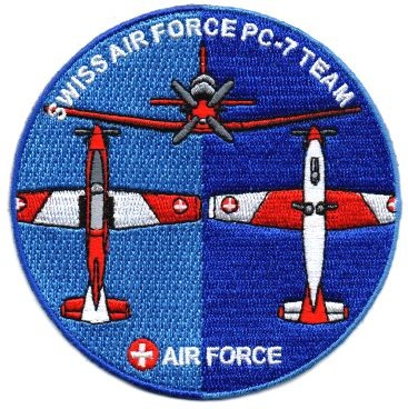 Picture of PC-7 Team Patch Swiss Air Force Team season 2018
