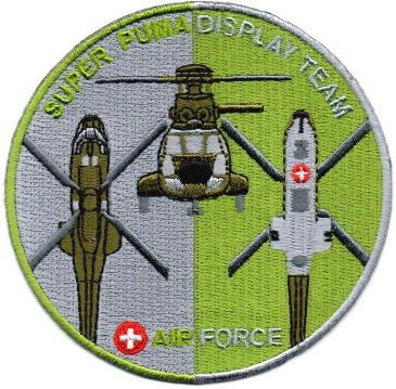 Picture of Swiss Air Force Super Puma Display Team Insignia Patch 2018