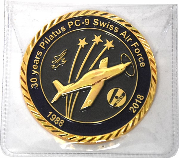 Picture of Pilatus PC-9 Swiss Air Force Coin Jubiläum 1988-2018 30 Jahre PC-9