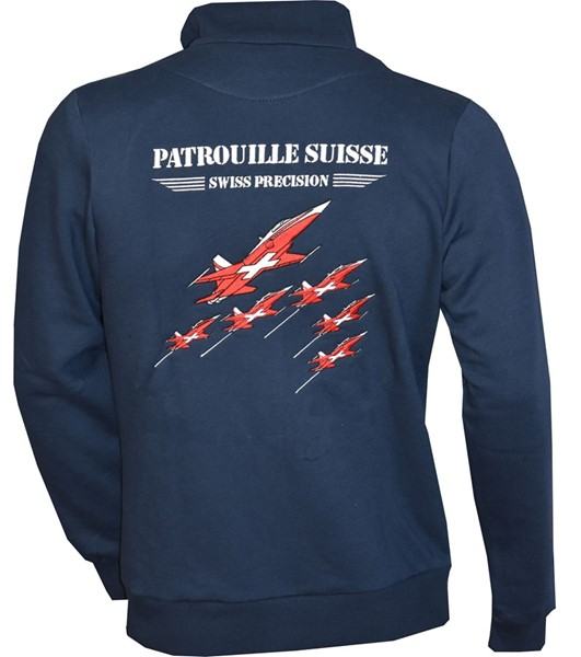 Picture of Patrouille Suisse Sweat Jacke bestickt, Navy blau