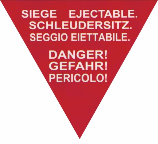 Picture of Car Sticker ejection seat Swiss Air Force