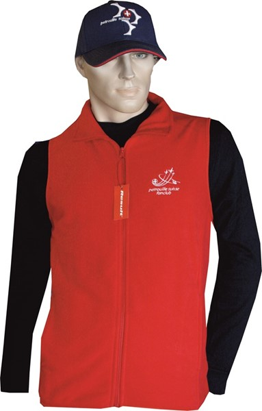 Photo de Patrouille Suisse Fanclub Fleece Gilet rot