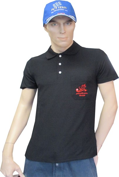Photo de Patrouille Suisse Fanclub Polo Shirt rot bestickt